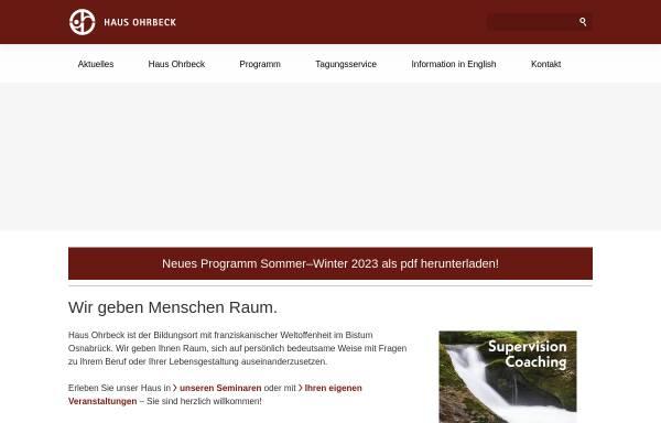 Vorschau von www.haus-ohrbeck.de, Haus Ohrbeck