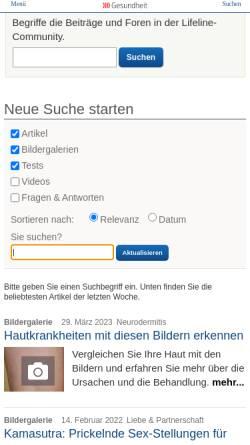 Vorschau der mobilen Webseite www.qualimedic.de, Leberkrebs