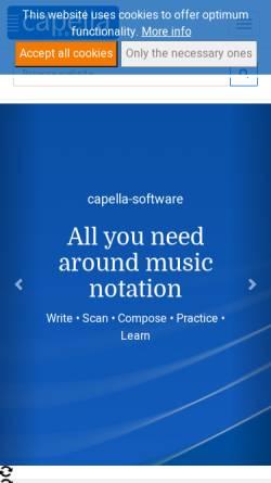 Vorschau der mobilen Webseite www.whc.de, Capella-Software GmbH