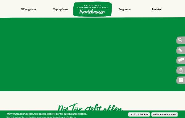 Vorschau von www.landvolkshochschule-hardehausen.de, Katholische Landvolkshochschule