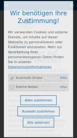 Vorschau der mobilen Webseite www.systemische-gesellschaft.de, Systemische Gesellschaft