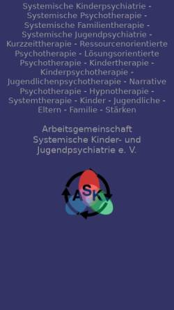 Vorschau der mobilen Webseite www.kinderpsychiatrie-systemisch.de, Systemische Kinder- und Jugendpsychiatrie (ASK)