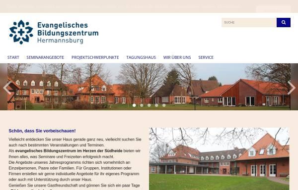 Vorschau von www.bildung-voller-leben.de, Niedersächsisch Lutherische Heimvolkshochschule Hermannsburg