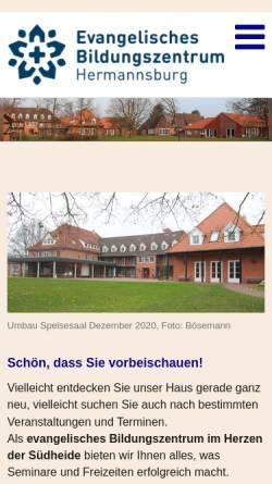 Vorschau der mobilen Webseite www.bildung-voller-leben.de, Niedersächsisch Lutherische Heimvolkshochschule Hermannsburg