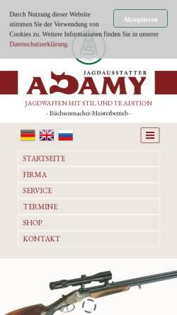 Vorschau der mobilen Webseite www.adamy-jagdwaffen.de, Gebr. Adamy