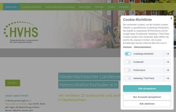 Vorschau von www.landesverband-hvhs.de, Niedersächsischer Landesverband der Heimvolkshochschulen [HVHS]