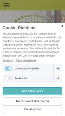 Vorschau der mobilen Webseite www.landesverband-hvhs.de, Niedersächsischer Landesverband der Heimvolkshochschulen [HVHS]