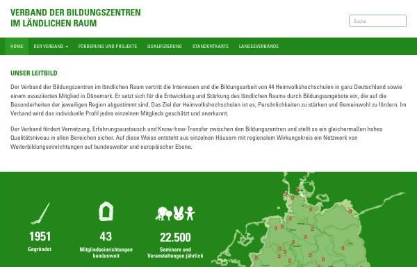 Vorschau von verband-bildungszentren.de, Verband der Bildungszentren im ländlichen Raum e.V.