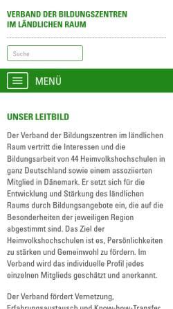 Vorschau der mobilen Webseite verband-bildungszentren.de, Verband der Bildungszentren im ländlichen Raum e.V.