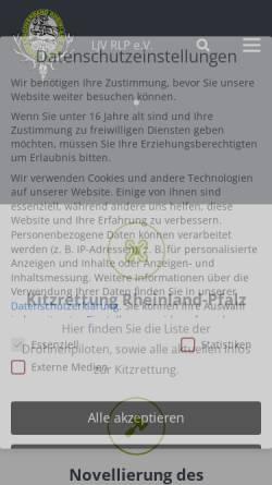 Vorschau der mobilen Webseite www.ljv-rlp.de, Landesjagdverband Rheinland-Pfalz