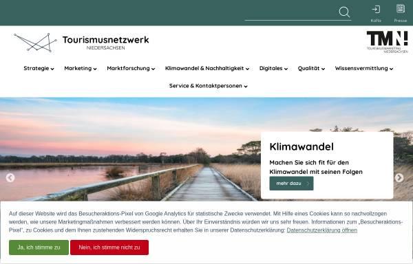 Vorschau von www.tourismuspartner-niedersachsen.de, Tourismuspartner Niedersachsen