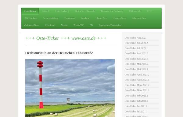 Vorschau von www.oste.de, Wunderland an der Oste