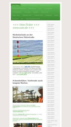 Vorschau der mobilen Webseite www.oste.de, Wunderland an der Oste