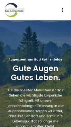 Vorschau der mobilen Webseite www.augenklinik-bad-rothenfelde.de, Augenklinik Bad Rothenfelde