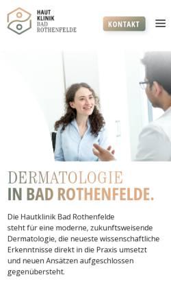 Vorschau der mobilen Webseite www.hautklinik.de, Johann-Wilhelm-Ritter-Klinik