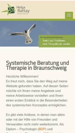 Vorschau der mobilen Webseite www.rattay-beratung.de, Diplom-Psychologin Helga Rattay