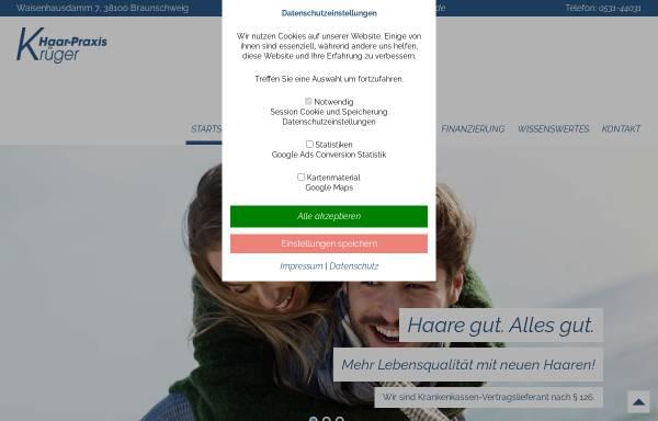 Vorschau von www.haarpraxis-krueger.de, Haarpraxis Krüger