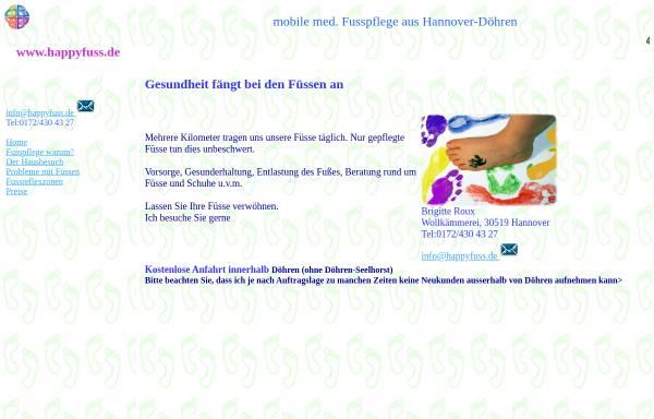 Vorschau von www.happyfuss.de, Mobile Fußpflege Brigitte Koch