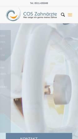 Vorschau der mobilen Webseite myzahnarzt.com, COS Zahnärzte