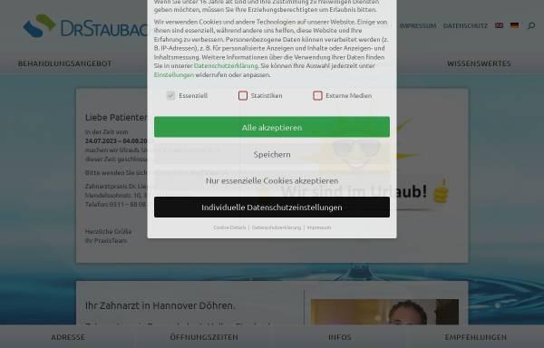 Vorschau von drstaubach.de, Zahnarzt Dr. Volker Staubach