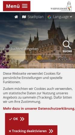 Vorschau der mobilen Webseite feuerwehr-wernigerode.de, Freiwillige Feuerwehr Wernigerode