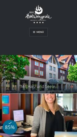 Vorschau der mobilen Webseite www.hkk-wr.de, KiK - Das Harzer Kultur- und Kongreßzentrum Wernigerode
