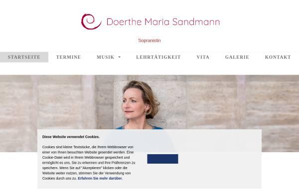 Vorschau von www.doerthe-maria-sandmann.de, Sandmann, Doerthe Maria