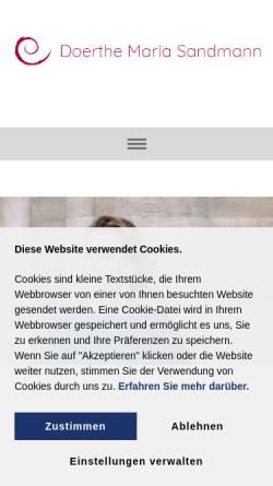 Vorschau der mobilen Webseite www.doerthe-maria-sandmann.de, Sandmann, Doerthe Maria