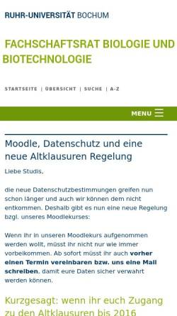 vorschau der mobilen webseite wwwruhr uni bochumde ruhr - Uni Bochum Bewerbung