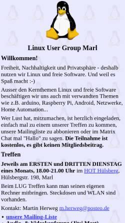 Vorschau der mobilen Webseite www.lug-marl.de, Marl - Linux User Group Marl