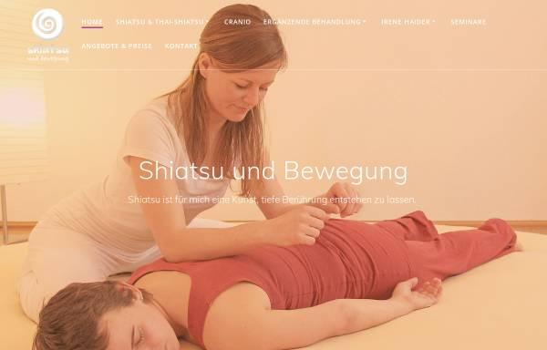 Vorschau von www.shiatsu-und-bewegung.at, Haider Irene