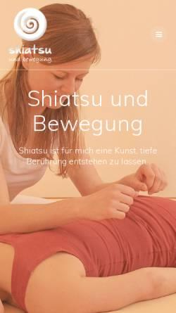 Vorschau der mobilen Webseite www.shiatsu-und-bewegung.at, Haider Irene
