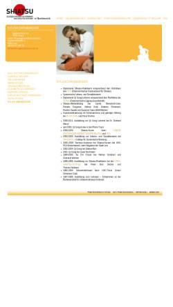 Vorschau der mobilen Webseite www.shiatsu-ooe.at, Krügl Sylvia