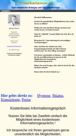 Vorschau der mobilen Webseite members.chello.at, Macek Michael
