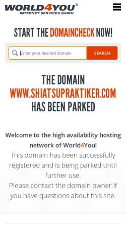 Vorschau der mobilen Webseite www.shiatsupraktiker.com, Shiatsu-Praktiker in Kärnten