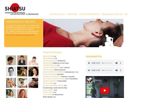 Vorschau von www.shiatsu-ooe.at, Shiatsu-PraktikerInnen in Oberösterreich