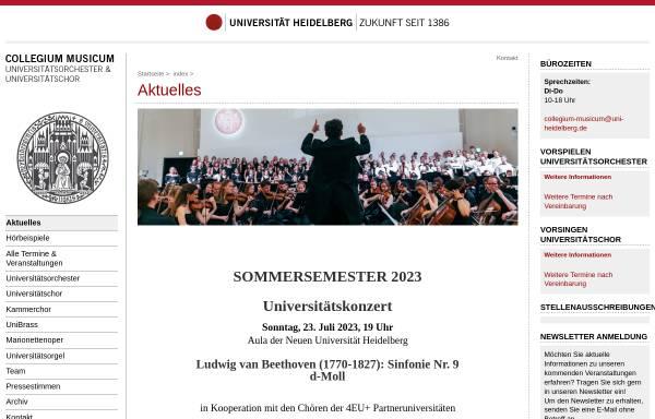 Vorschau von www.collegium-musicum.uni-hd.de, Collegium Musicum der Universität Heidelberg