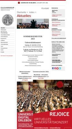 Vorschau der mobilen Webseite www.collegium-musicum.uni-hd.de, Collegium Musicum der Universität Heidelberg