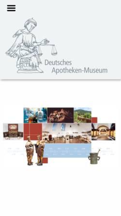 Vorschau der mobilen Webseite www.deutsches-apotheken-museum.de, Deutsches Apotheken-Museum