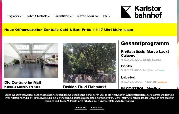 Vorschau von www.karlstorbahnhof.de, Kulturhaus Karlstorbahnhof