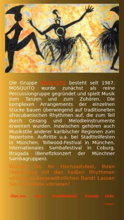 Vorschau der mobilen Webseite www.mosquito-percussion.de, Mosquito