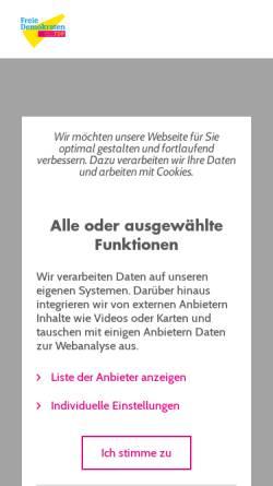 Vorschau der mobilen Webseite www.fdpfraktion.de, FDP Koblenz
