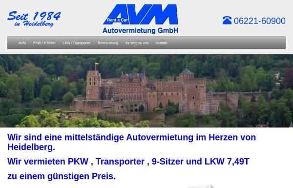 Vorschau von www.avm-heidelberg.de, AVM Autovermietung