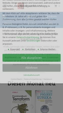Vorschau der mobilen Webseite www.dpunkt.de, dpunkt.Verlag GmbH