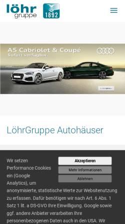 Vorschau der mobilen Webseite www.loehrgruppe.de, Löhr und Becker AG