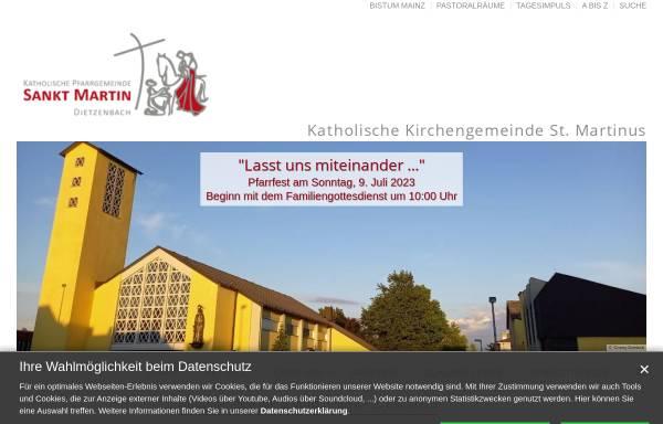 Vorschau von www.st-martin-dietzenbach.de, Katholische Pfarrgemeinde St. Martin