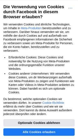 Vorschau der mobilen Webseite de-de.facebook.com, Back Beat Business