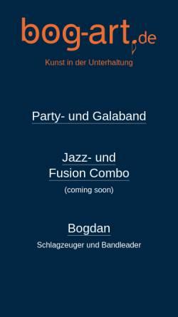 Vorschau der mobilen Webseite www.bog-art.de, bog art