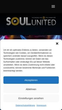 Vorschau der mobilen Webseite soul-united.de, Soul United