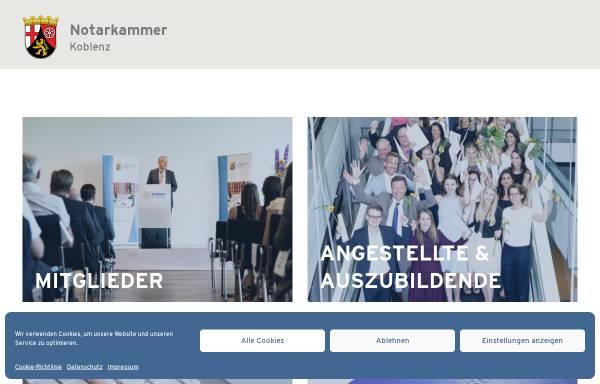 Vorschau von www.notarkammer-koblenz.de, Notarkammer Koblenz.